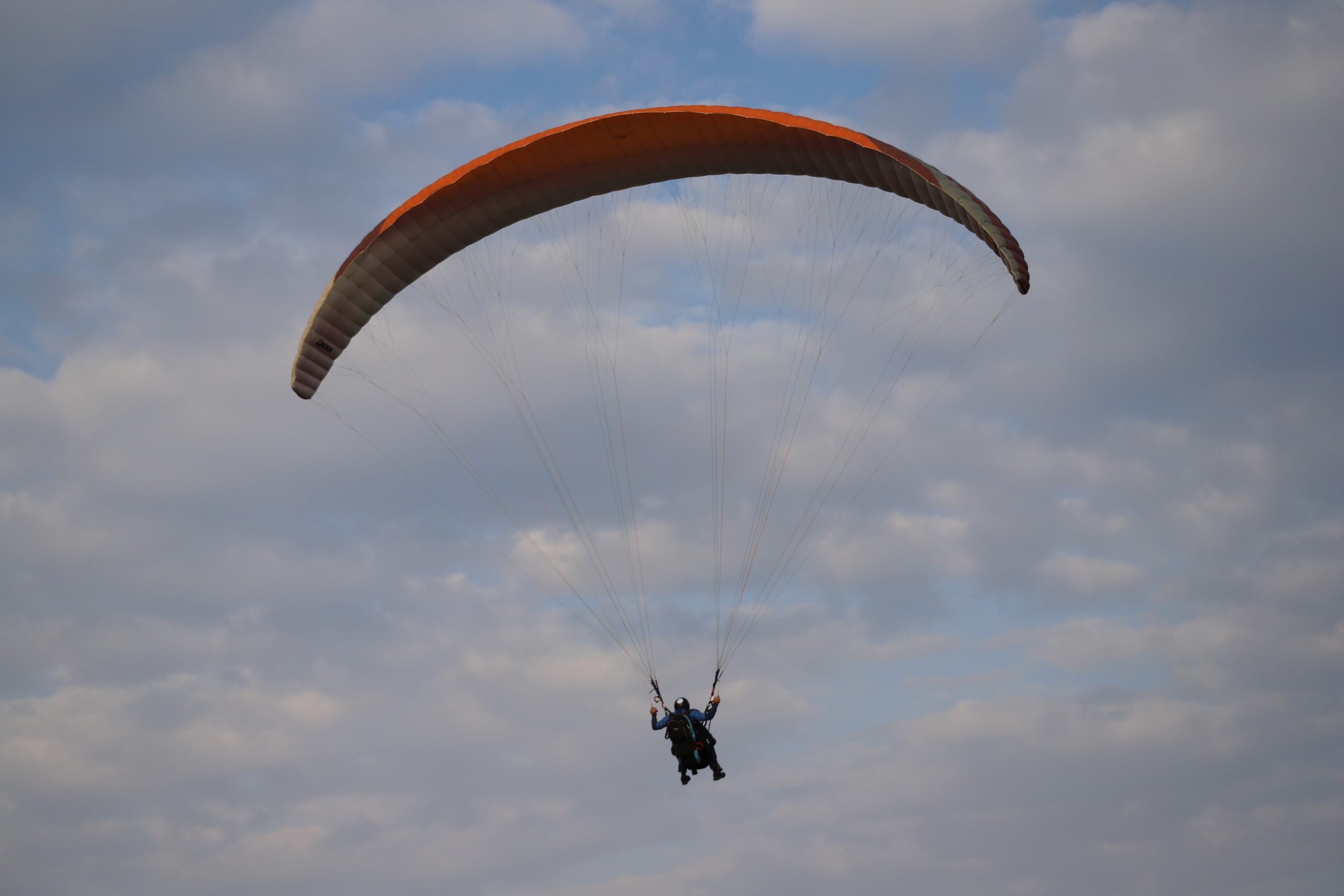 Paragliding from Mount Gilboa over Jezreel Valley