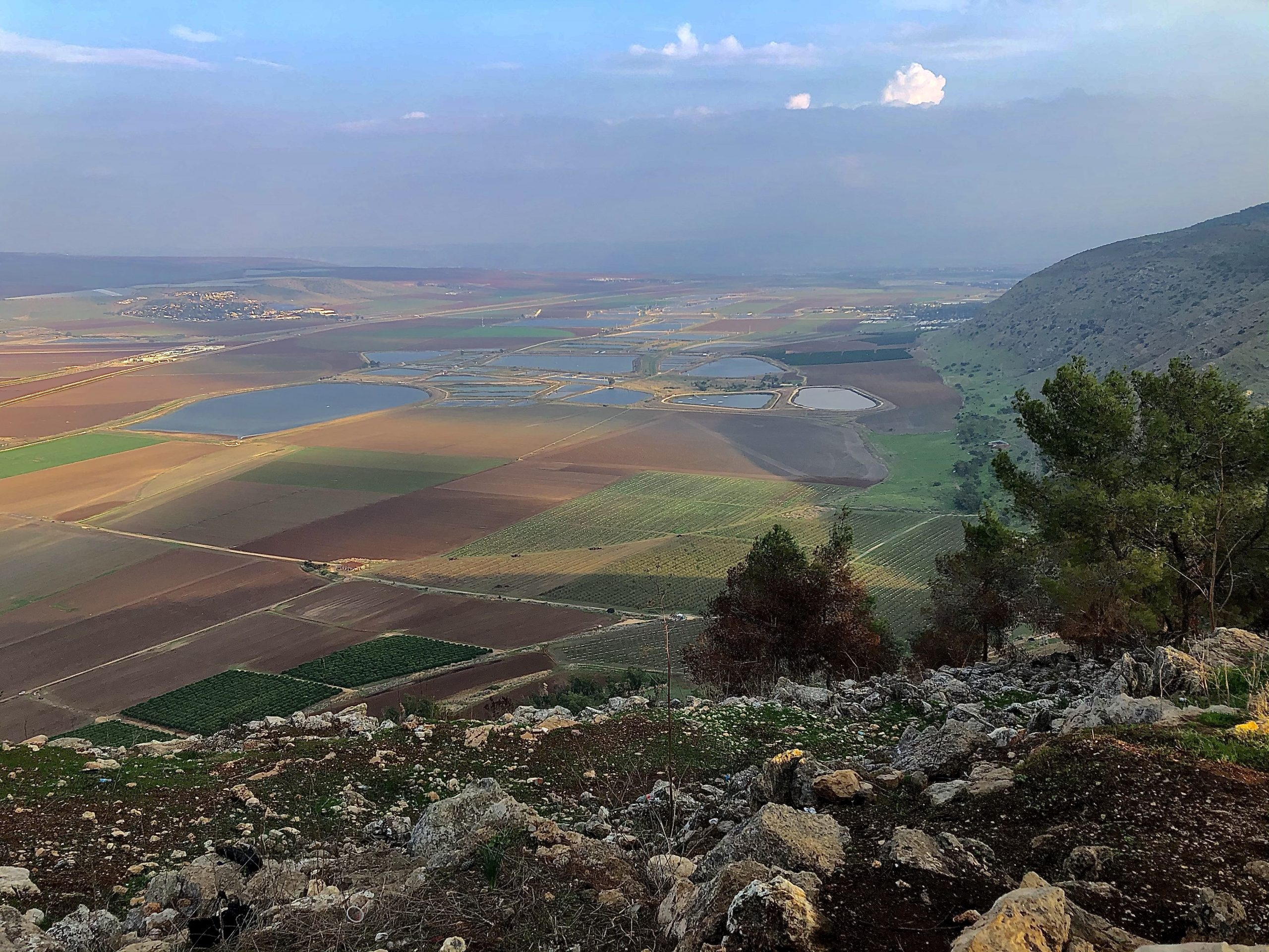 View from Mount Gilboa on Jezreel Valley