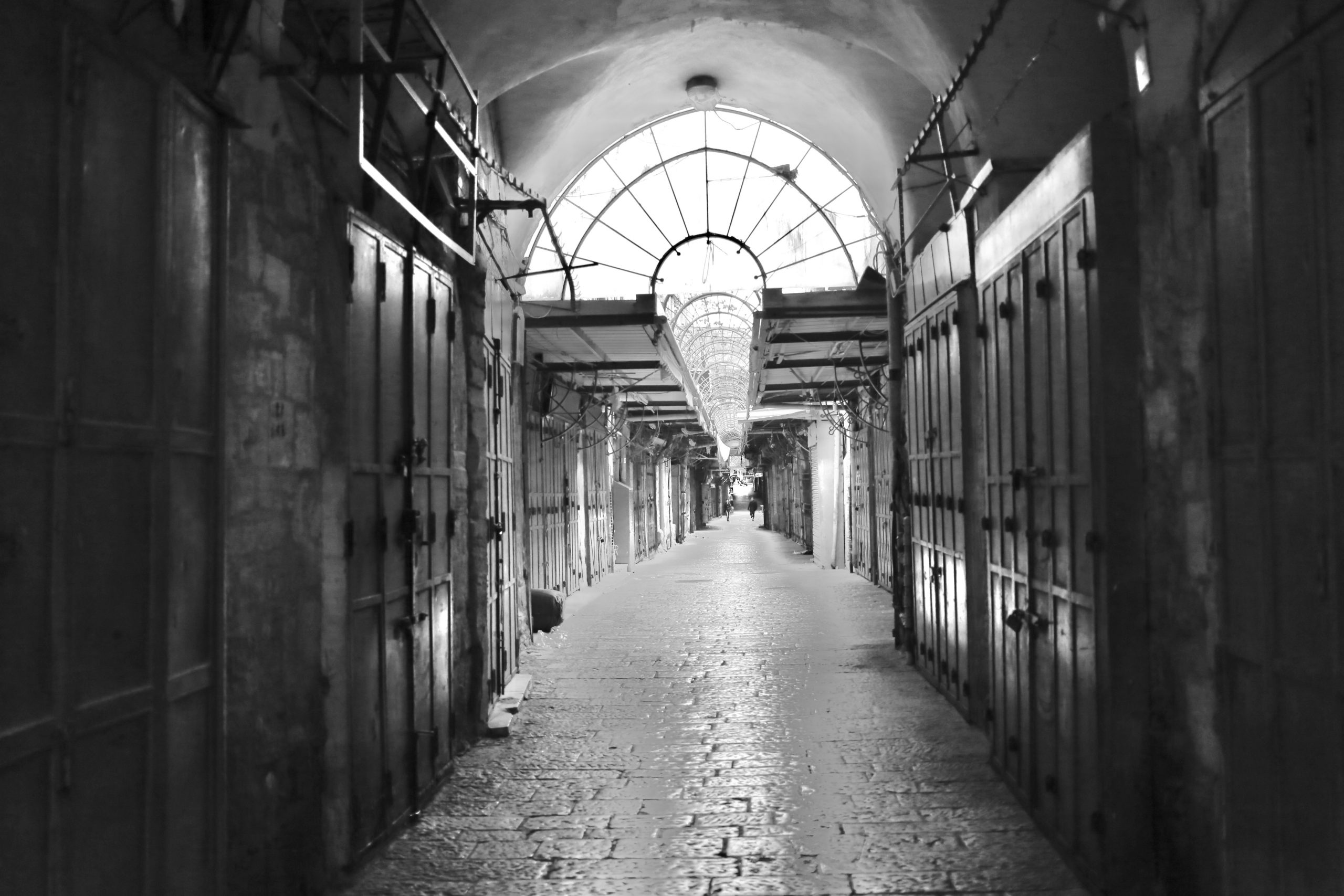 Eerily Empty streets of the Old City of Jerusalem