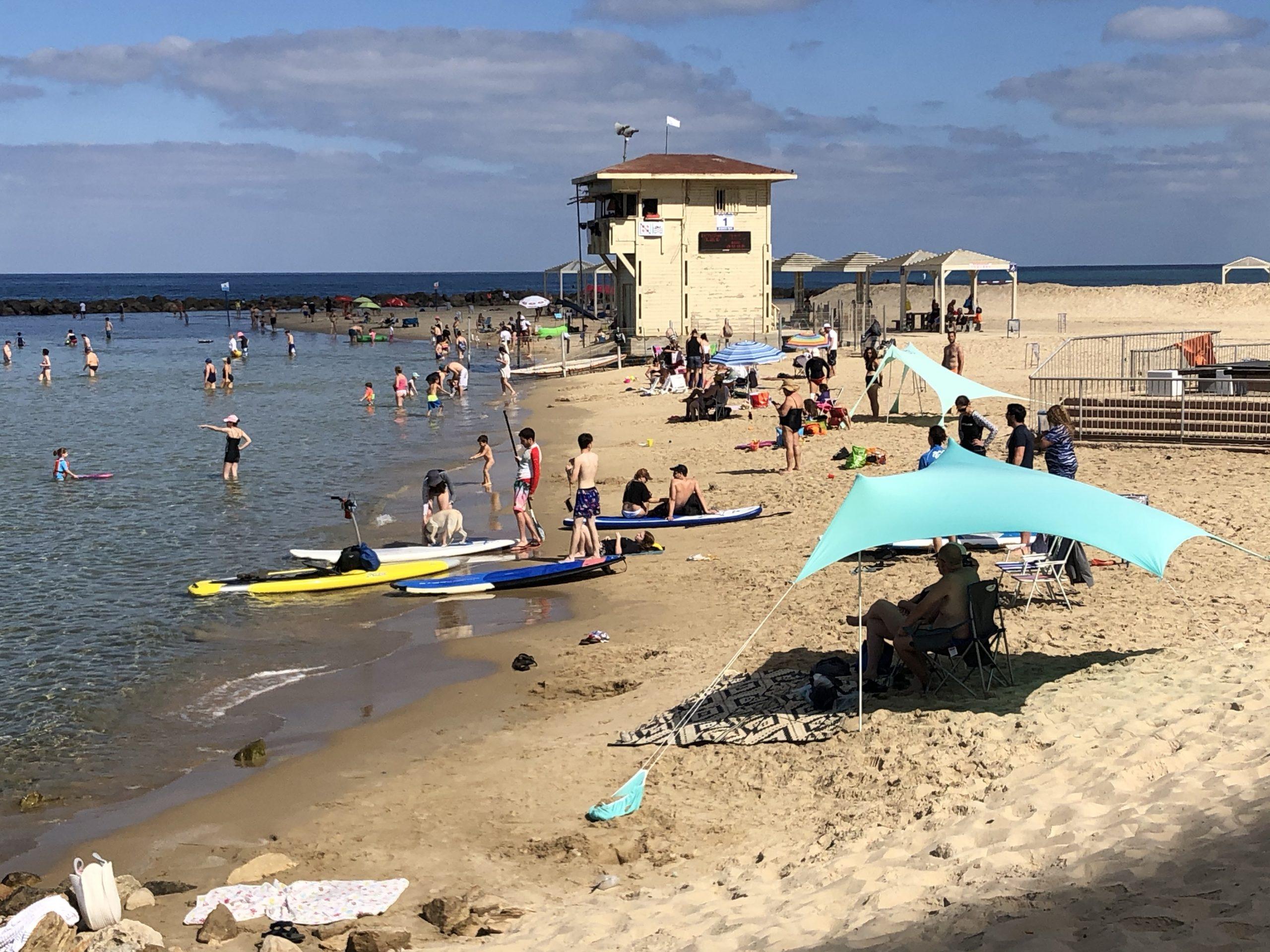 A peaceful day at Haifa beach