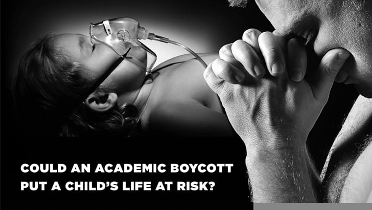 American Jewish Committee ad implies BDS endangers children