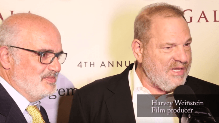 Movie Mogul Harvey Weinstein at September Gala: 'I Am Israeli in My Heart and Mind'