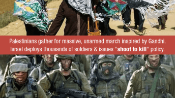 Israeli forces kill 6 unarmed marchers and a farmer in Gaza and injure hundreds.