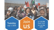 Palestinian women in Gaza call for solidarity as they march to break the siege on July 3