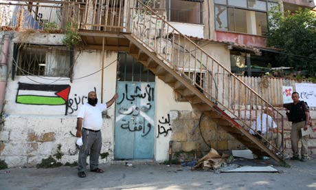 Nasser Ghawi in front of what was his family home in East Jerusalem until he was evicted at gunpoint
