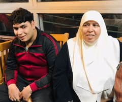 Amira with her son Abdul-Rahman