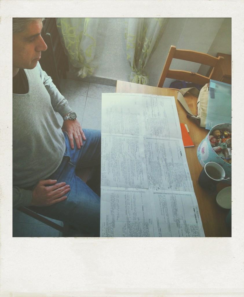 José Manuel Viera. Una sesión de Coaching literario en la que José me compartía sus líneas de tiempo. Así trabaja cada una de sus historias. Taller de Escritura Creativa de Israel Pintor en Sevilla