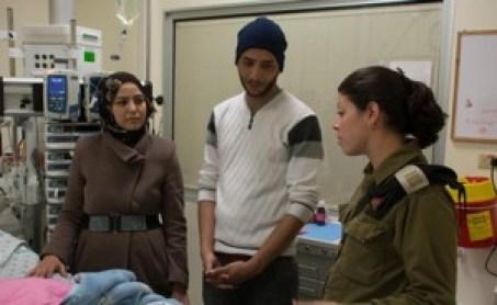 IDF. IDF-docs-rescue-Palestinian-baby.-Photo-screenshot-Ch.-2.-300x184