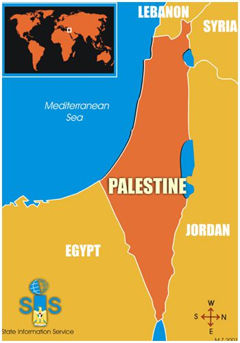 Palestinian authority map at un erases all of israel palestinian authority representatives in the united nations are handing out maps of palestine that show it in place of all of israel including tel aviv gumiabroncs Image collections