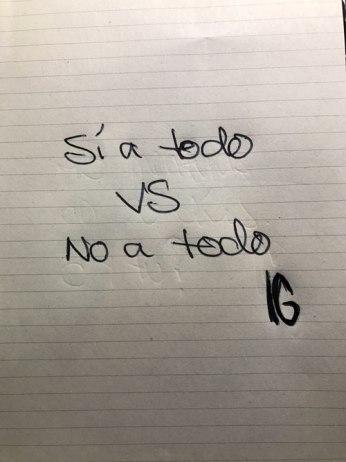 sí versus no