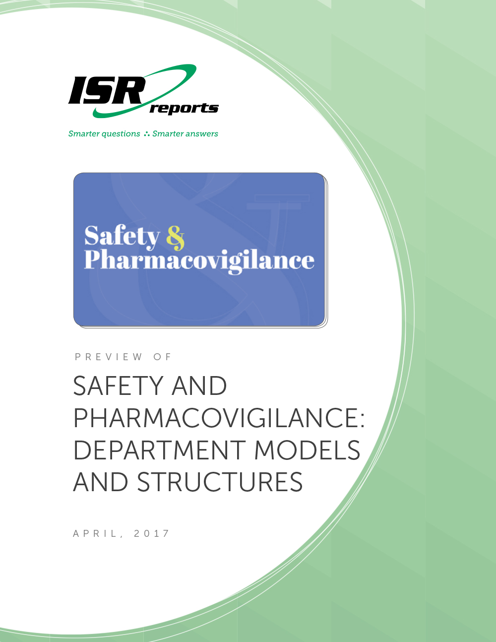 Report cover for Safety and Pharmacovigilance: Department Models and Structures