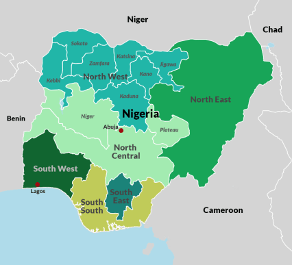 Artisanal mining sites in Nigeria