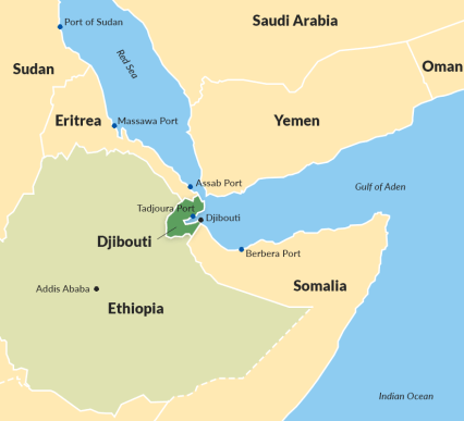 Djibouti's strategic regional location