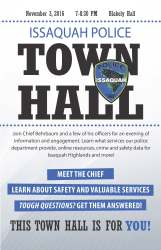 Issaquah Police Town Hall Meeting Issaquah Highlands
