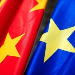 Chinese and EU flag