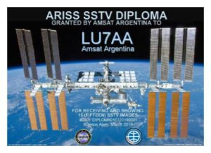 AMSAT Argentina announces ISS/SSTV diploma! | ISS Fan Club
