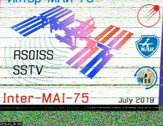 SSTV from 29 July