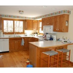 Kitchen Make Over Factory Direct Cabinets Our Oak Makeover 2 Toned Gray And White Subway Tile For