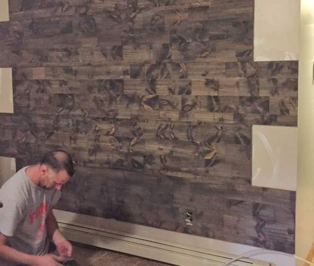 How To Fake A Reclaimed Wood Accent Wall Faux Reclaimed Wood Accent Wall Diy