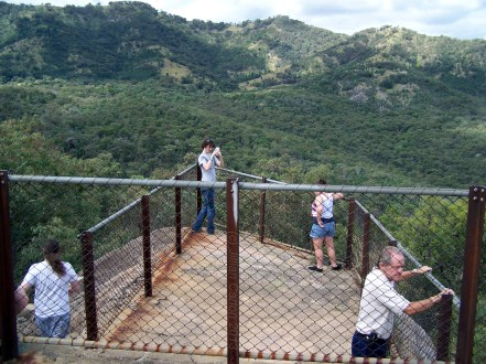 This is the lower of the two viewing platforms on top of the massive boulder.