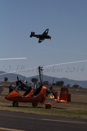 The old and the new at the airshow.