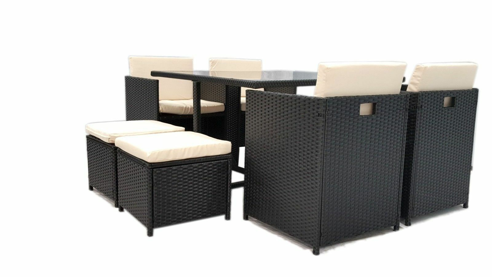 Wicker Outdoor Dining Chairs 9pc Rattan Wicker Outdoor Dining Table Chair Outdoor Furniture Set Coffee Brown