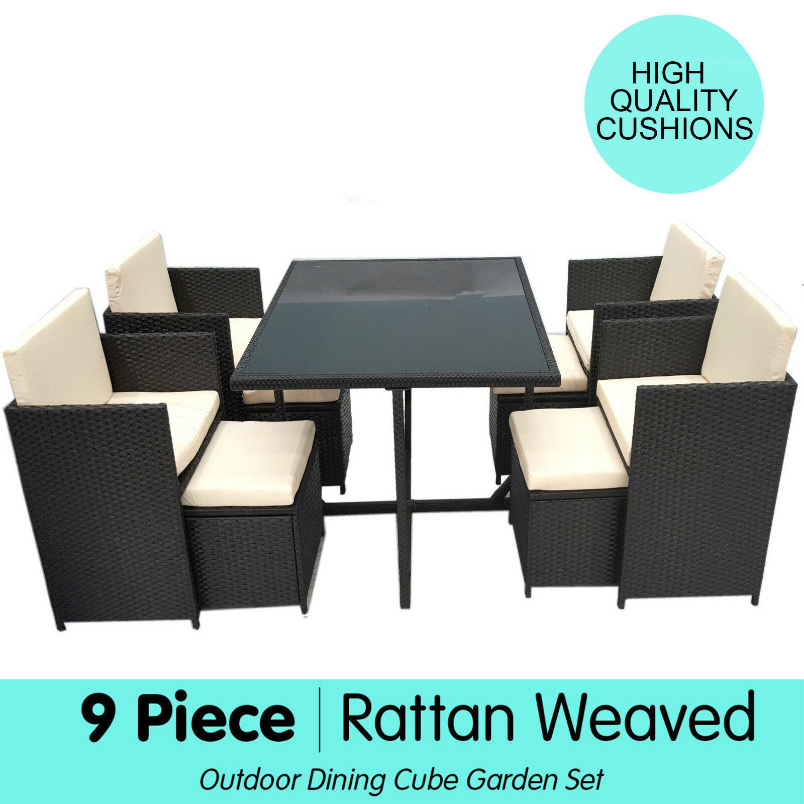 Outdoor Table And Chair Set 9pc Rattan Wicker Outdoor Dining Table Chair Outdoor Furniture Set Coffee Brown