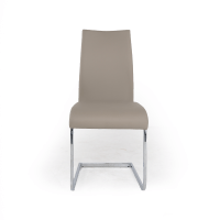 Grey and Chrome Dining Chairs - iStage Homes