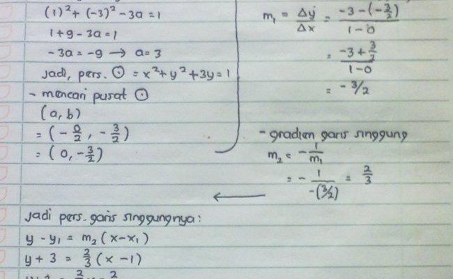 Soal Dan Pembahasan Persamaan Garis Singgung Lingkaran