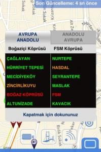 Stauanzeige Istanbul App