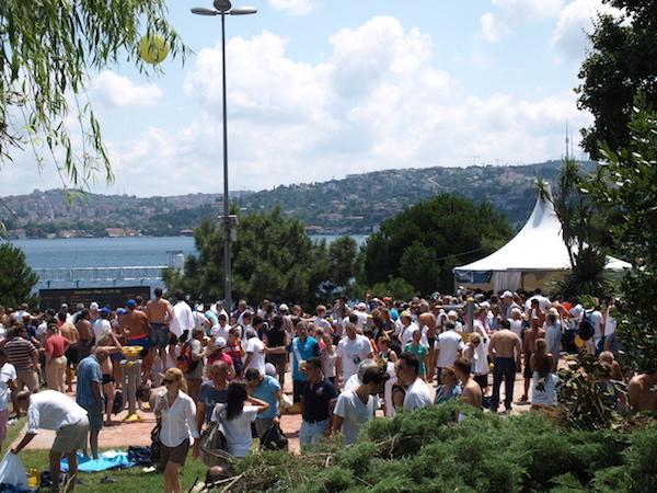 Bosporusschwimmen in Istanbul