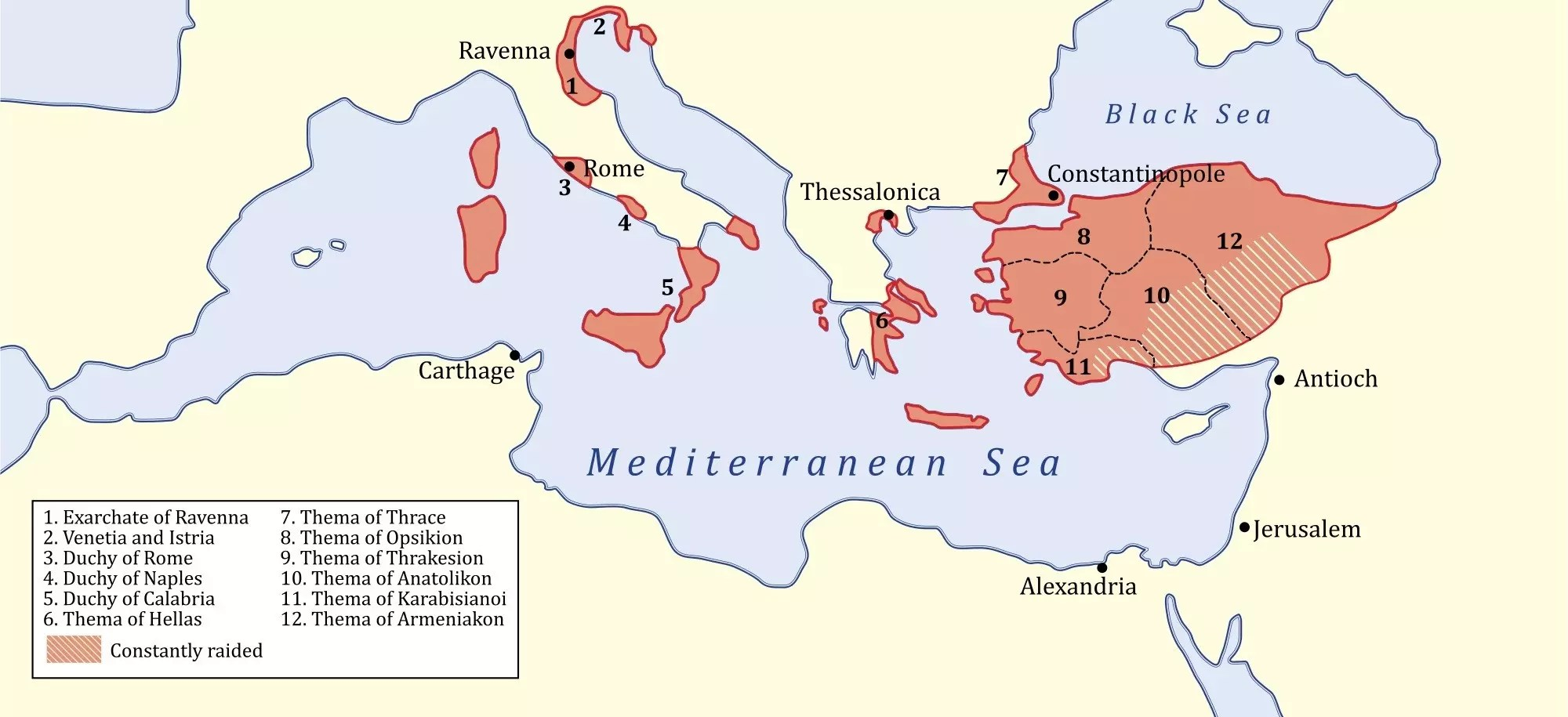 Byzantine Empire Map At Its Height Over Time