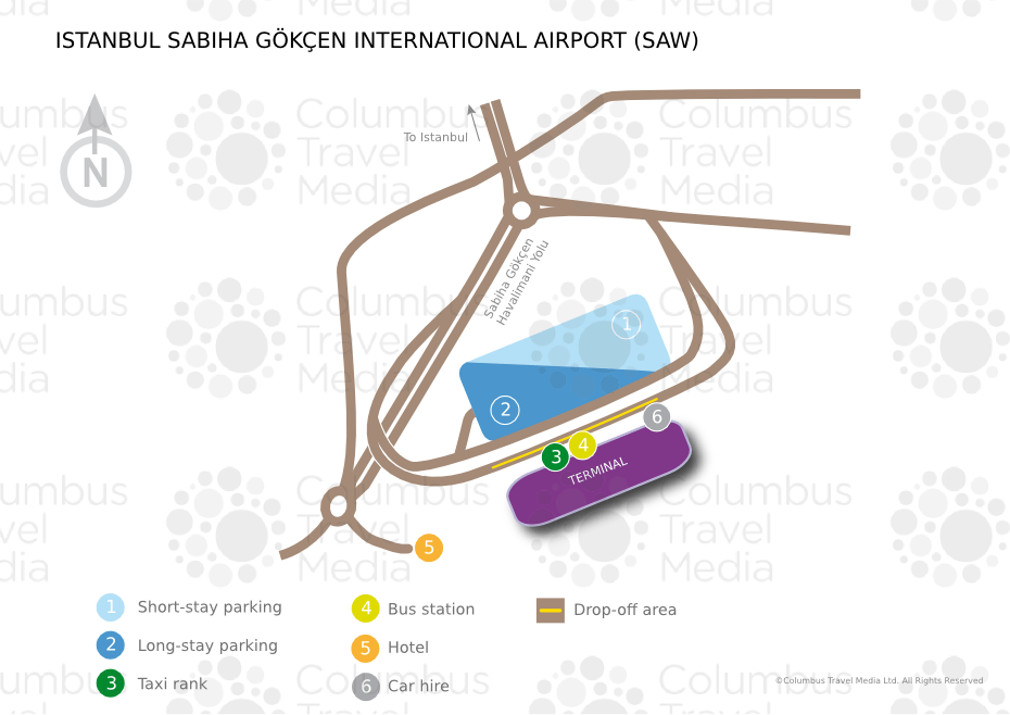 Map Of Istanbul Airport Transportation Terminal