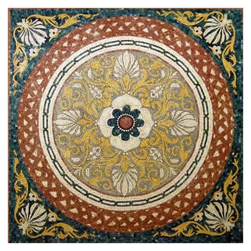 floral mosaic medallion rug tiles