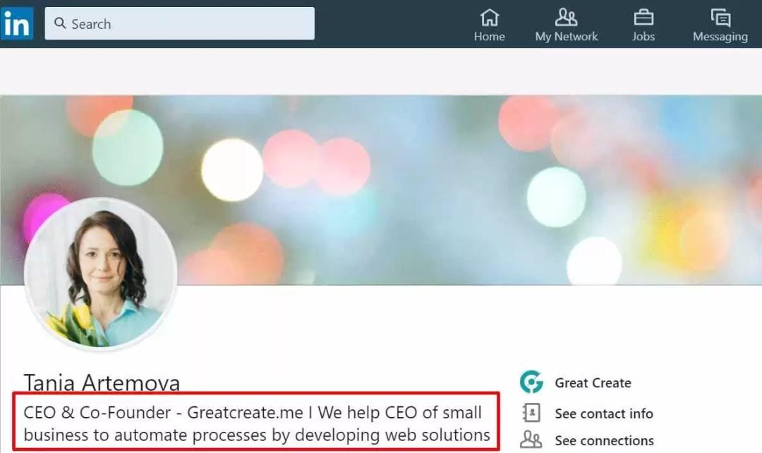 LinkedIn profile optimization to sale IT services