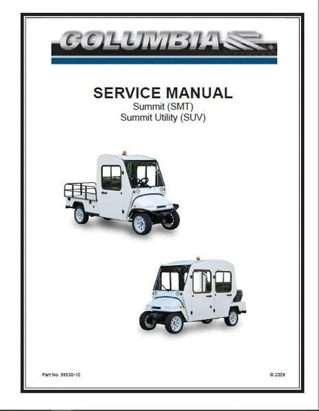 Manual, Service, Columbia Summit SUV SMT SM2 SM4