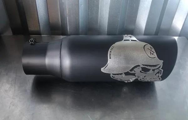 gibson metal mulisha exhaust tip 4 in