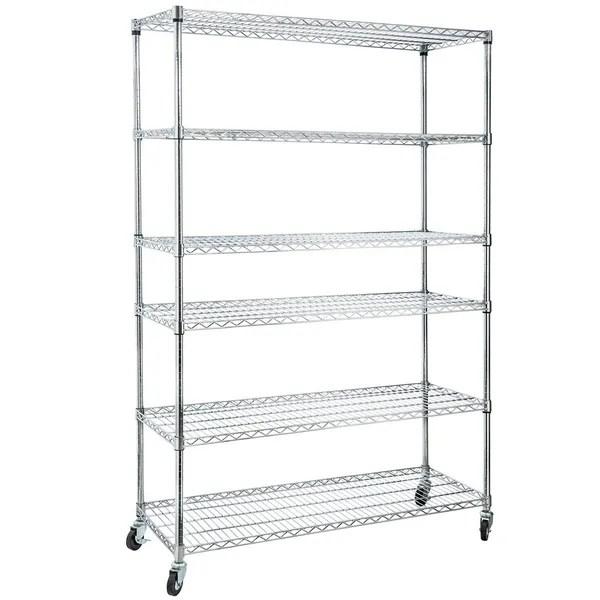 Home-it 6 Shelf Commercial Adjustable Steel shelving
