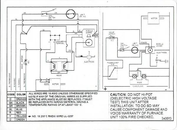 Suburban Furnace Control Module Board Wiring Kit 520840