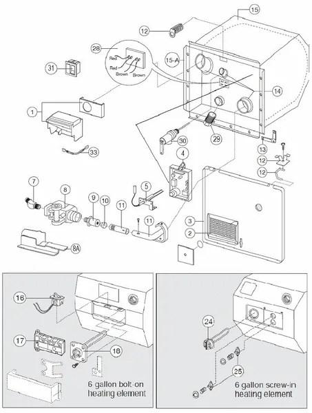 Suburban Rv Water Heater Parts Diagram : suburban, water, heater, parts, diagram, Atwood, Water, Heater, Model, GC6A-7E, Parts, Pdxrvwholesale