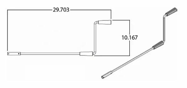 Lippert Slide-Out / 5th Wheel Landing Leg Crank Handle