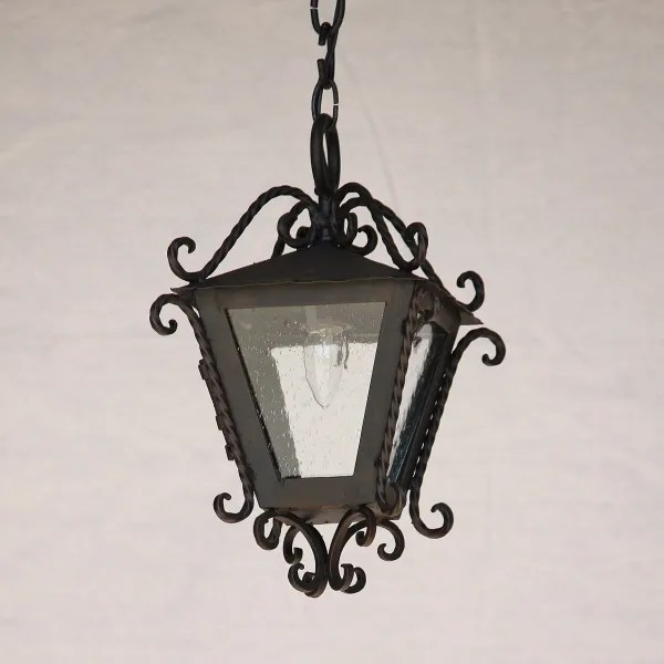 2087 1 spanish mediterranean style outdoor iron hanging light