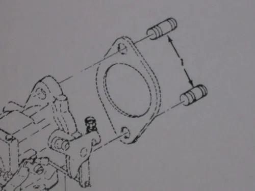 M151 JEEP CARBURETOR MOUNT STUDS MS51864-104-16 NOS