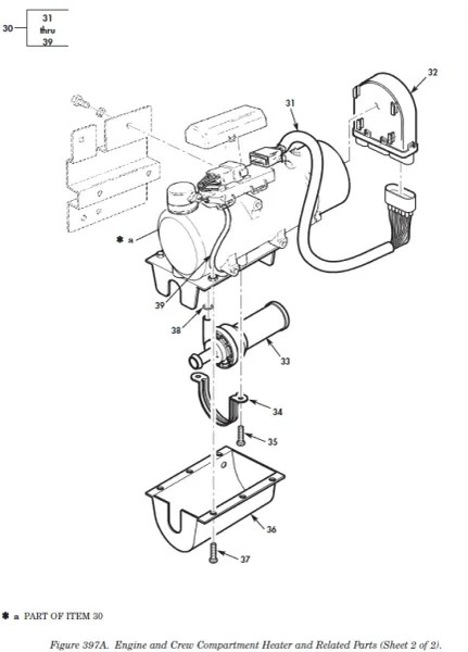 M998 ENGINE AND CREW COMPARTMENT HEATER 67582B, 2540-01