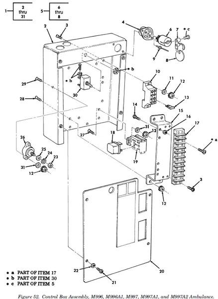 M998 ELECTRICAL CONTROL BOX 12341910, 2540-01-277-2313 NOS