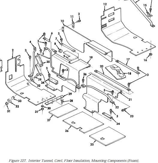 M998 L.H /. R.H. REAR INSULATION, 12339020, 2510-01-250
