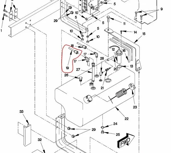M1078 FUEL TANK HOSE ASSEMBLY 12418124-001, 4720-01-372