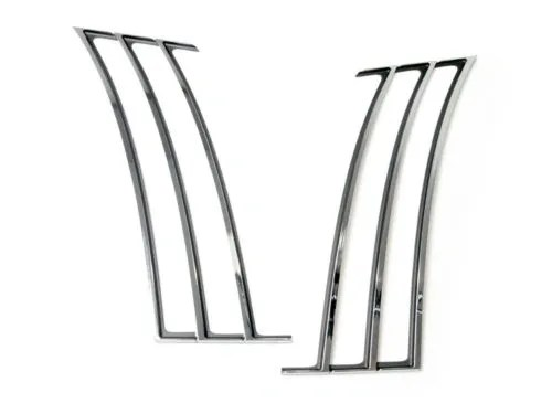 chrome rear 1/4 quarter panel louvers insert trim 2010-15
