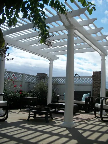 White Classic Free Standing Vinyl Pergola Kit Starting At