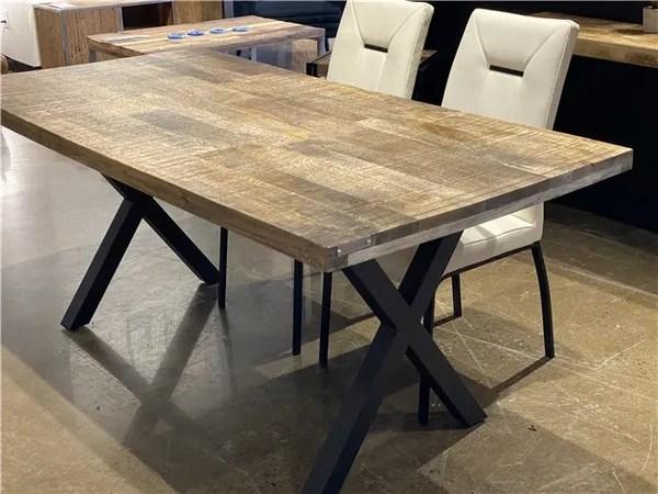 table de cuisine en bois de manguier